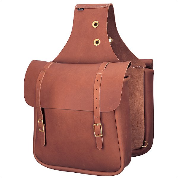 90-4251-BR WEAVER CHAP BROWN LEATHER HORSE SADDLE BAG TACK WESTERN
