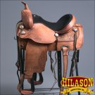 TO107RO-F HILASON TREELESS WESTERN LEATHER TRAIL PLEASURE HORSE RIDING SADDLE 15