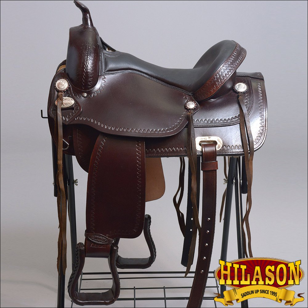"TT100GS 15"" HILASON WESTERN GAITED FLEX TREE ENDURANCE TRAIL RIDING HORSE SADDLE"