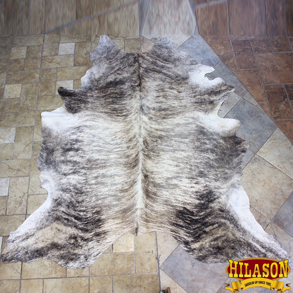 HS1181-F HILASON HAIR ON LEATHER PURE BRAZILIAN COWHIDE SKIN RUG CARPET NATURAL