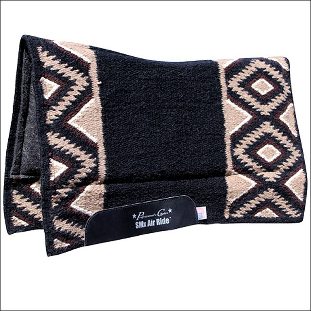 PROFESSIONAL CHOICE CHOCO BLACK COMFORT-FIT SMX H.D. AIR RIDE HORSE SADDLE PAD