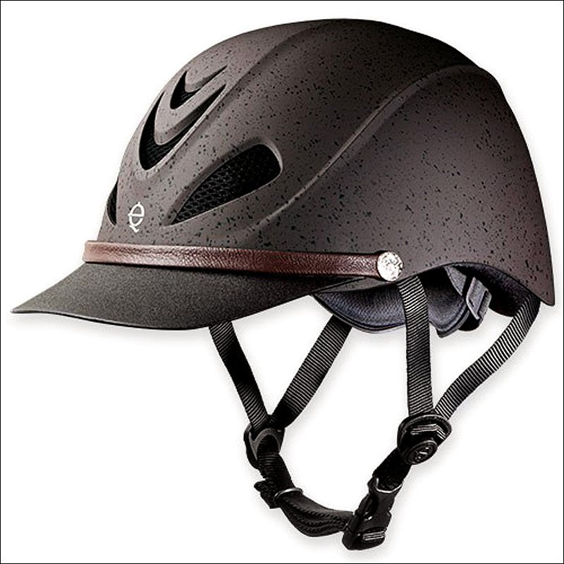 LARGE TROXEL GRIZZLY BROWN DAKOTA MAXIMUM VENTED ALL-TRAIL WESTERN RIDING HELMET