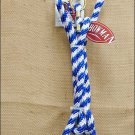 SHOWMAN BLUE POLY HORSE 8 feet LEAD ROPE WITH BRASS SNAP