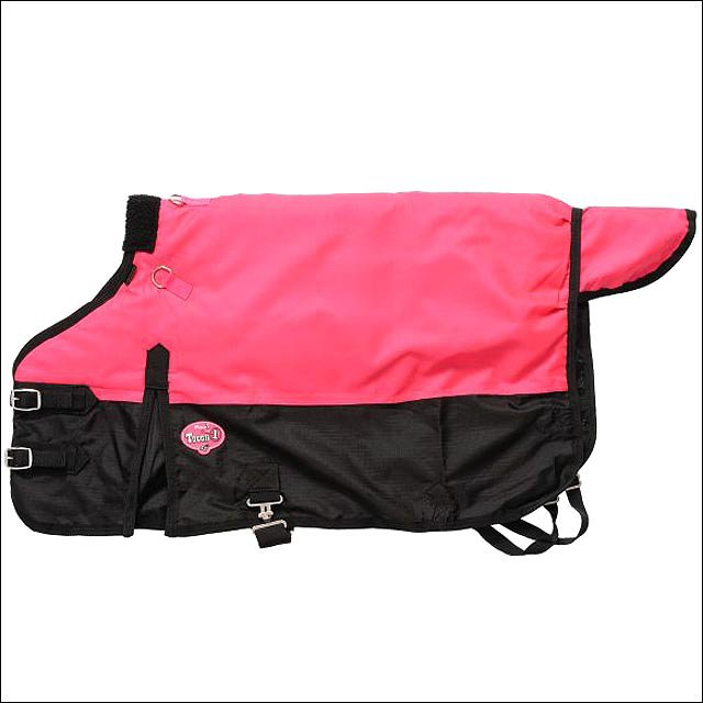 36 inch PINK TOUGH-1 600D WATERPROOF POLY MINIATURE TURNOUT HORSE BLANKET