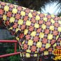 """78"""" HILASON 1200D WATERPROOF POLY TURNOUT HORSE BLANKET NECK COVER BROWN YELLOW"""