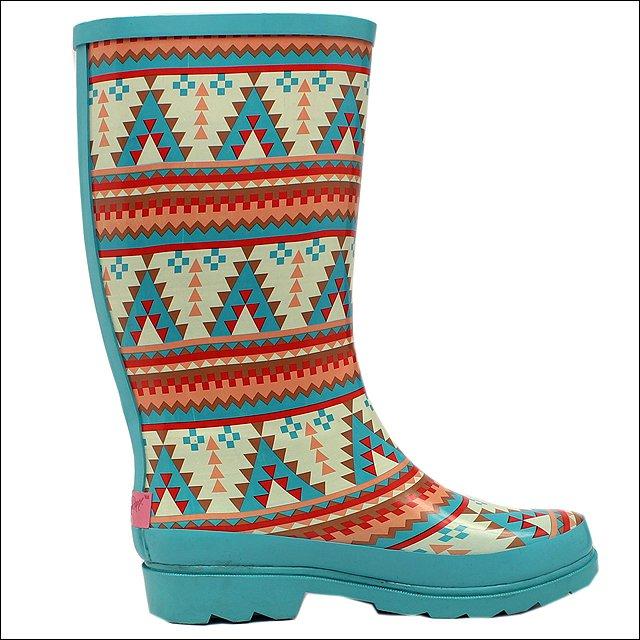 M&F WESTERN WOMENS LADIES DAKOTA SOUTHWEST ROUND TOE LEG RAIN BOOTS
