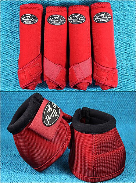 RED LARGE PROFESSIONAL CHOICE SPORTS MEDICINE HORSE BOOTS BELL VENTECH ELITE