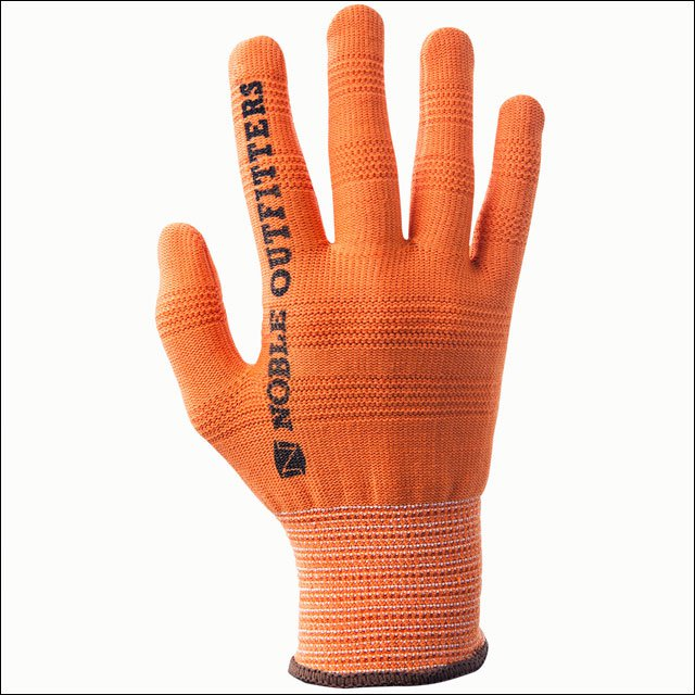 LARGE NOBLE OUTFITTERS TRUE FLEX RIGHT HAND COTTON ROPING GLOVES ORANGE