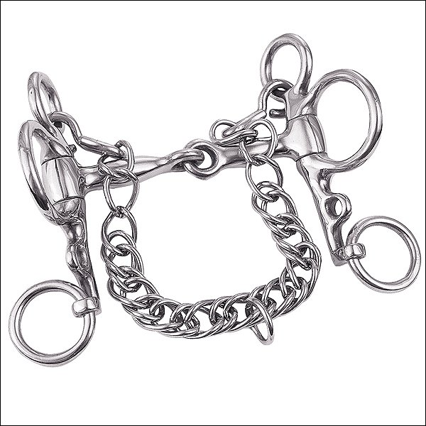 WEAVER LEATHER MINIATURE PELHAM HORSE BIT 3-1/2 INCH SNAFFLE MOUTH