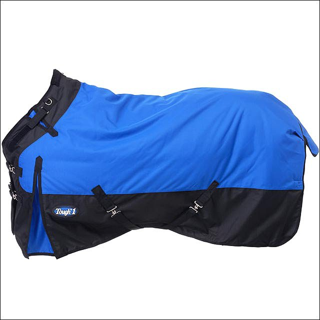 84 inch BLUE TOUGH-1 1200D WATERPROOF POLY TURNOUT BLANKET ADJUST SNUGGIT NECK