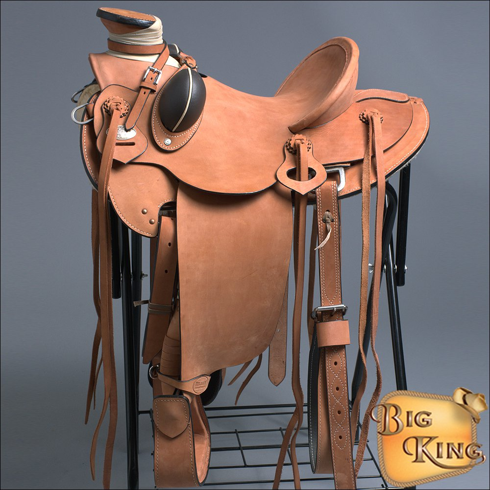 WD085-F HILASON BIG KING SERIES WESTERN WADE RANCH ROPING COWBOY TRAIL SADDLE 15