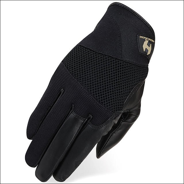 08 SIZE HERITAGE TACKIFIED POLO HORSE RIDING EQUESTRIAN GLOVE LEATHER BLACK