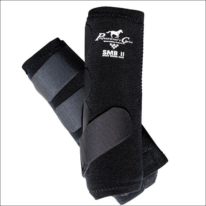 BLACK EXTRA SMALL PROFESSIONAL CHOICE  SMBII SPORTS MEDICINE HORSE BOOTS