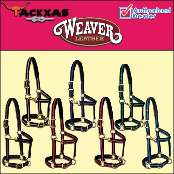WEAVER PADDED ADJUSTABLE CHIN AND THROAT SNAP HALTER SMALL HORSE