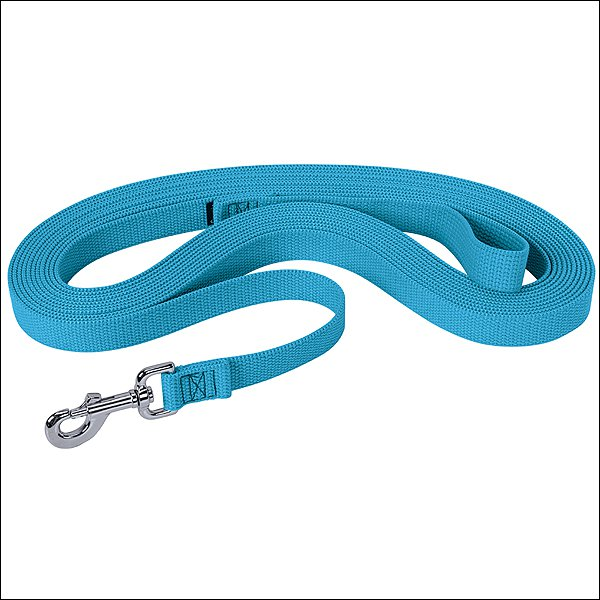 HURRICANE BLUE WEAVER HORSE FLAT COTTON LUNGE LINE WITH NICKEL PLATED 225 SNAP
