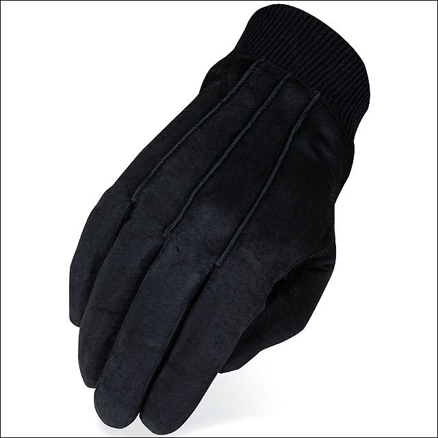 06 SIZE HERITAGE SUEDE LEATHER WINTER HORSE RIDING EQUESTRIAN GLOVE BLACK