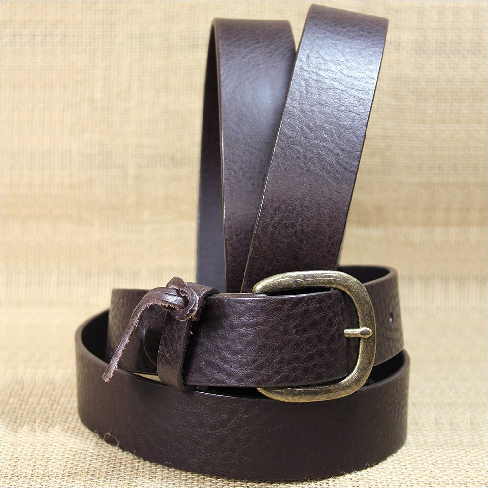 """42"""" JUSTIN BROWN LEATHER WORK BASIC MEN BELT MADE IN THE USA 1-1/2"""" Wide"""