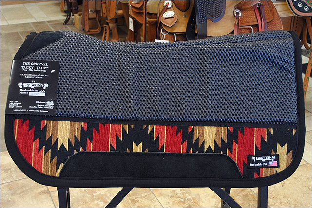 HILASON BLACK PRO SERIES CONTOURED 32IN x 32IN TACKY TACK HORSE SADDLE PAD