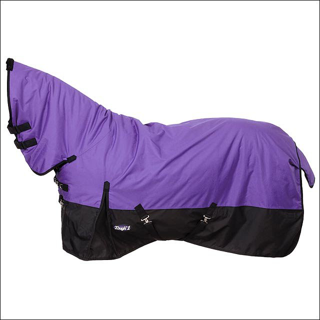78 inch PURPLE TOUGH-1 600D WATERPROOF POLY FULL NECK TURNOUT HORSE BLANKET