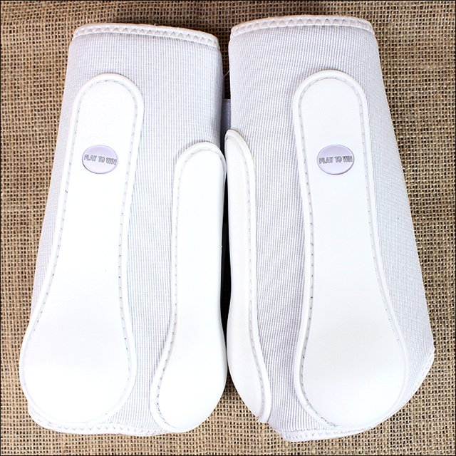 MEDIUM WHITE CLASSIC EQUINE WESTERN HORSE TACK PRO TECH FRONT BOOTS