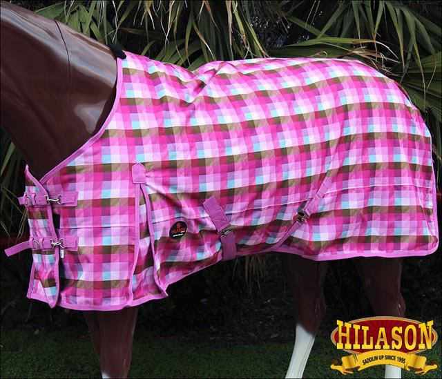 75 in HILASON 1200D RIPSTOP WATERPROOF POLY TURNOUT HORSE WINTER SHEET MAGENTA
