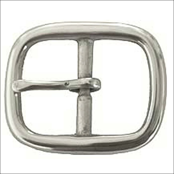 HILASON NICKEL PLATED 3/4 INCH MI CENTER BAR BUCKLE BELTS HEADSTALL TACK