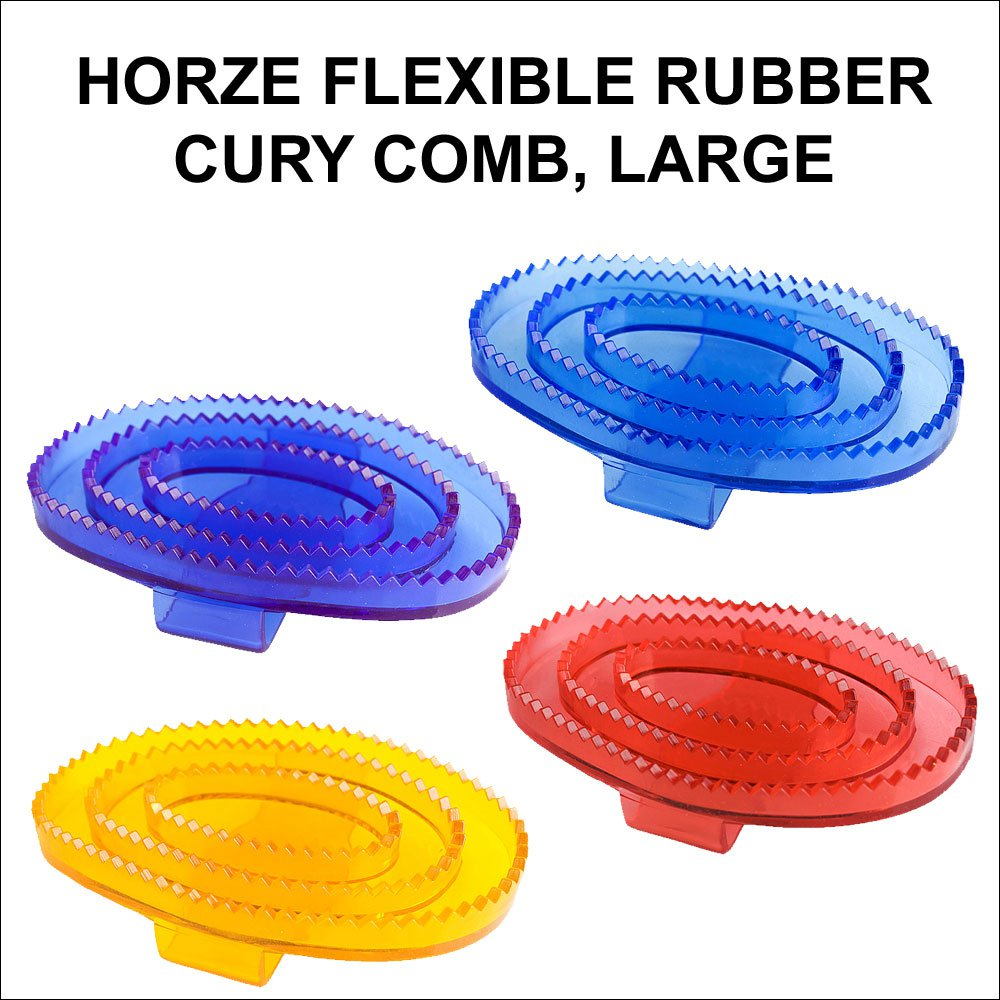 LARGE HORZE WESTERN TACK FLEXIBLE RUBBER HORSE TRANSPARENT CURRY COMB