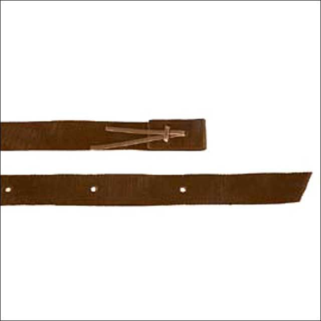 "2"" X 6"" HILASON WESTERN POLYPROPYLENE LEATHER CINCH STRAP BROWN"