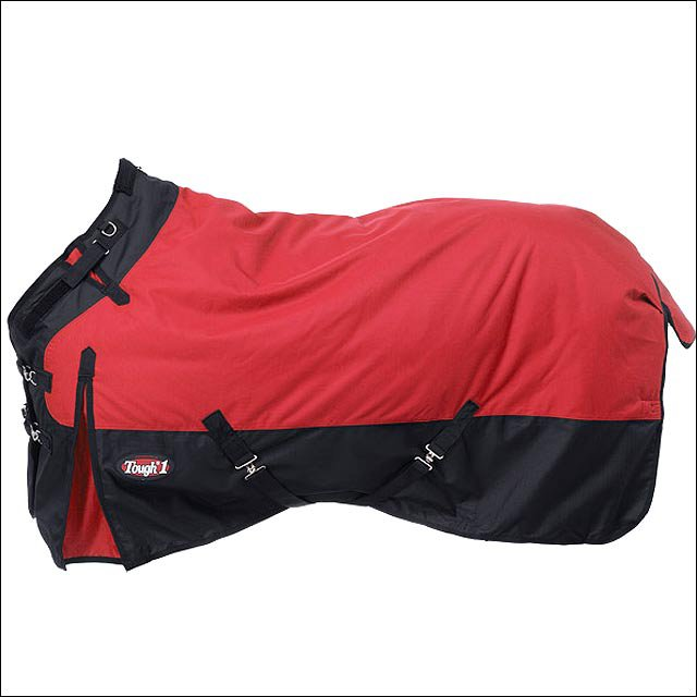 72 inch RED TOUGH-1 1200D WATERPROOF POLY TURNOUT BLANKET ADJUST SNUGGIT NECK