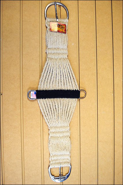 30 in. HILASON MOHAIR HORSE ROPER CINCH 27 STRAND SS ROLER BUCKLE MADE IN THE US