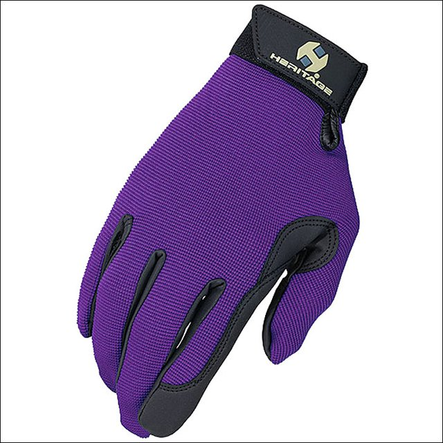 4 SIZE PURPLE HERITAGE PERFORMANCE RIDING GLOVES HORSE EQUESTRIAN