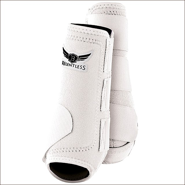 LARGE TREVOR BRAZILE RELENTLESS ALL AROUND HORSE SPORT HIND BOOTS PAIR WHITE