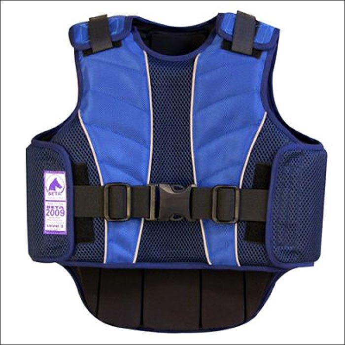 LARGE ADULT BLUE SUPRA-FLEX BODY PROTECTIVE EQUESTRIAN RIDING VEST BSI CERTIFIED