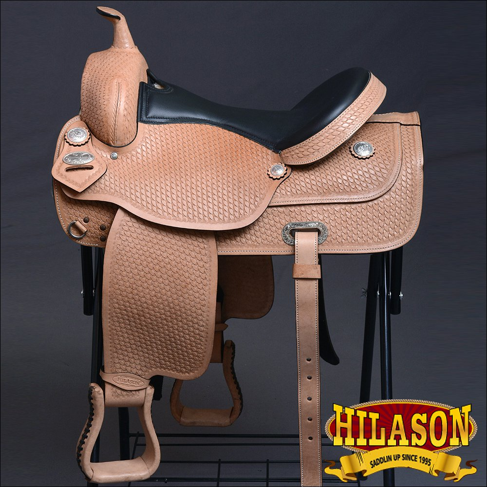 DF101F- HILASON WESTERN DRAFT HORSE TRAIL RIDING ENDURANCE SADDLE 16