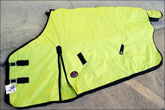 NEW HILASON 600D HEAVY WINTER WATERPROOF LIME GREEN STABLE BLANKET RUG HORSE WEA