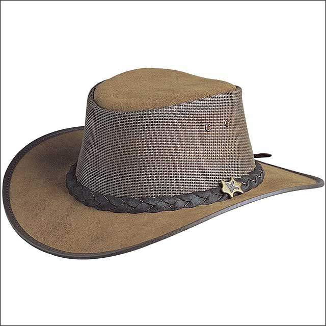 LARGE CONNER HANDMADE BC HATS COOL AS A BREEZE AUSTRALIAN LEATHER BARK MESH