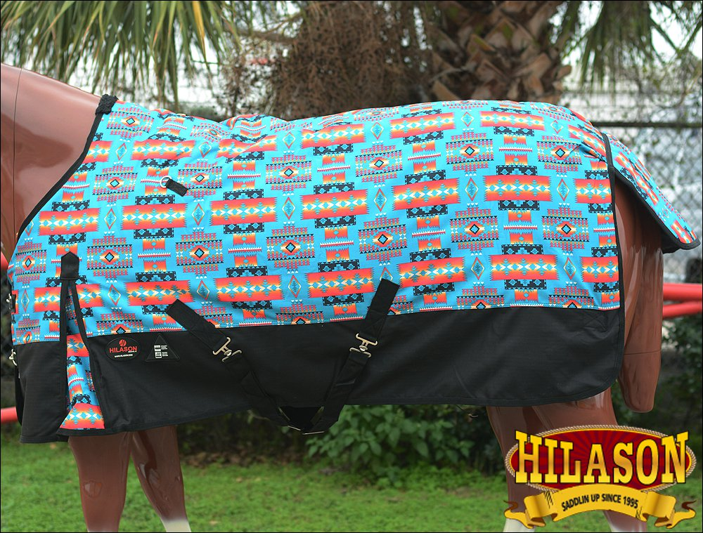 78 in HILASON 1200D 400G WATERPROOF HORSE WINTER BLANKET SOUTH WEST AZTEC TRIBAL