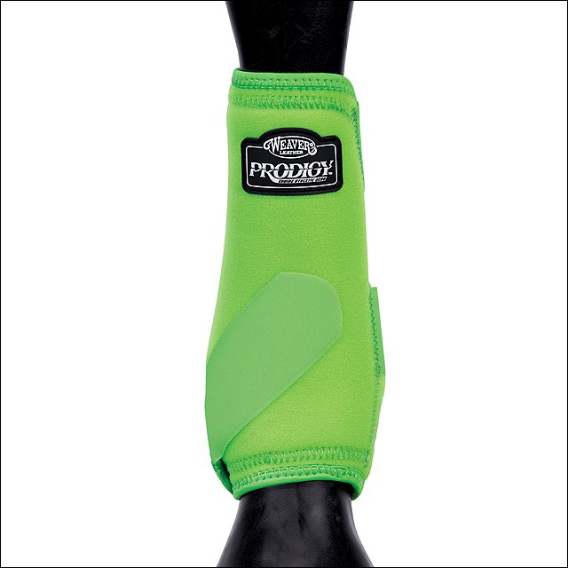 LIME GREEN WEAVER PRODIGY ATHLETIC HORSE LEG BOOTS TWO PACK MEDIUM
