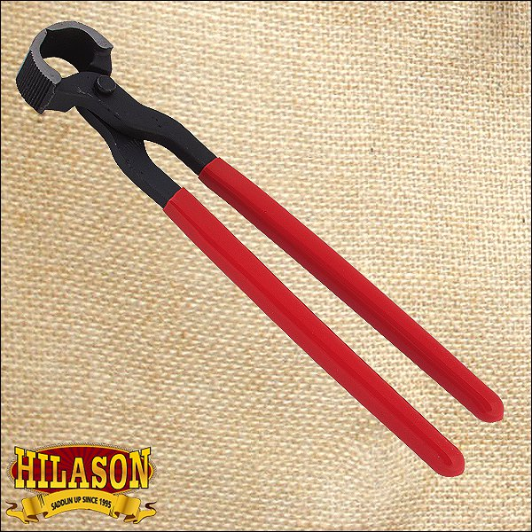 14 INCHES STANDARD HORSESHOE NAIL PULLER WITH RED COVERED HANDLE