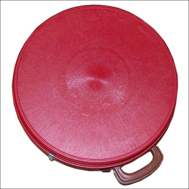 MEDIUM HILASON WESTERN HORSE TACK MOLDED HEAVY DUTY ABS ROPE CAN RED