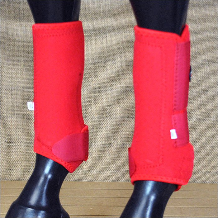 TF5103 LARGE TOUGH 1 FRONT LEG EXT VENTED SPORTS MEDICINE HORSE SPLINT BOOTS RED