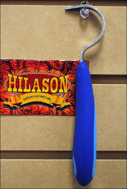BLUE HILASON WESTERN TACK HORSE SOFT TOUCH HOOF PICK