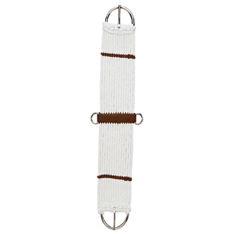 34 inch WEAVER LEATHER HORSE TACK WHITE RAYON 15 STRAND CINCH
