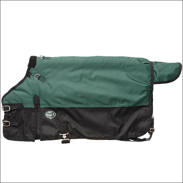 38 inch GREEN TOUGH-1 600D WATERPROOF POLY MINIATURE TURNOUT HORSE BLANKET
