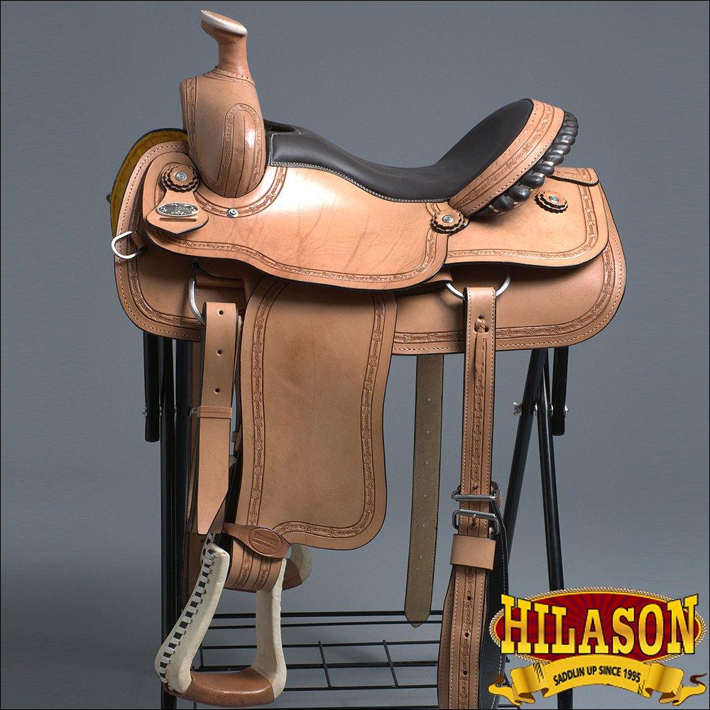 """RS109F- HILASON """"BIG KING Series"""" WESTERN WADE RANCH ROPING COWBOY SADDLE 16"""