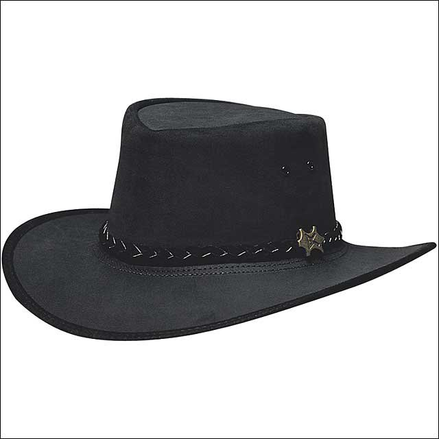 X LARGE CONNER HANDMADE BC HATS STOCKMEN SUEDE AUSTRALIAN LEATHER HAT BLACK