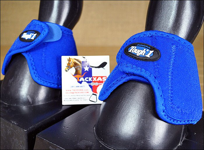 JT4103 LARGE TOUGH 1 NO TURN QUICK WRAP VENTED NEOPRENE HORSE BELL BOOTS ROYAL