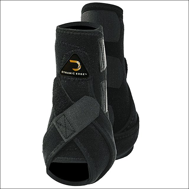 LARGE CACTUS DYNAMIC EDGE HORSE HIND REAR LEG PROTECTION SPORT BOOTS PAIR BLACK