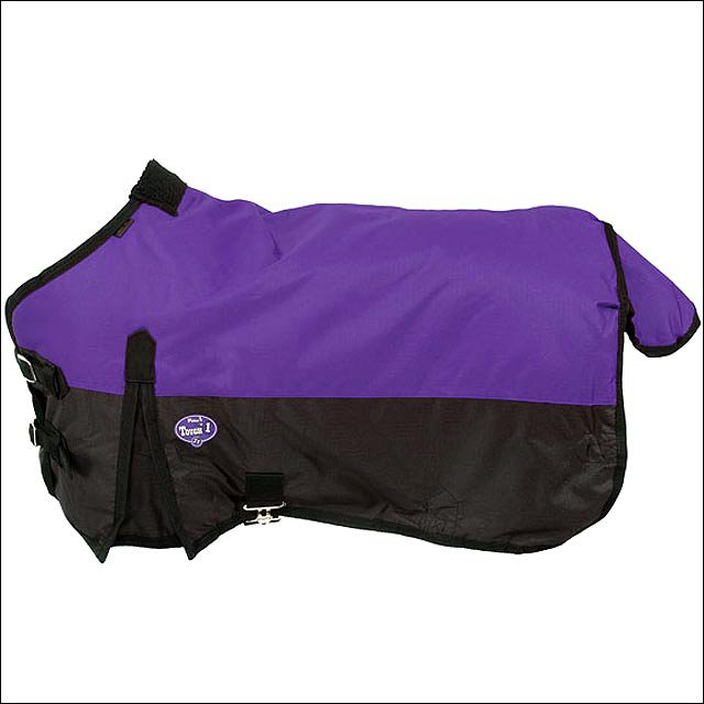 44 inch PURPLE TOUGH-1 600D WATERPROOF POLY MINIATURE TURNOUT HORSE BLANKET