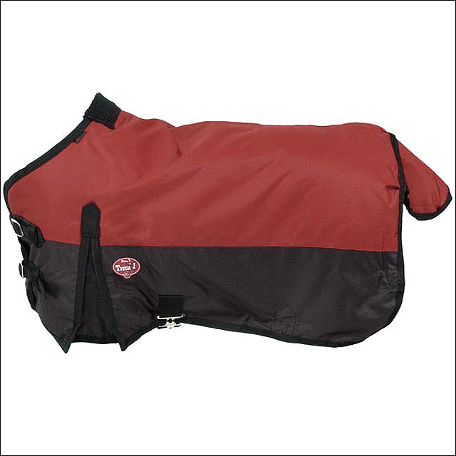 42 inch BURGUNDY TOUGH-1 600D WATERPROOF POLY MINIATURE TURNOUT HORSE BLANKET
